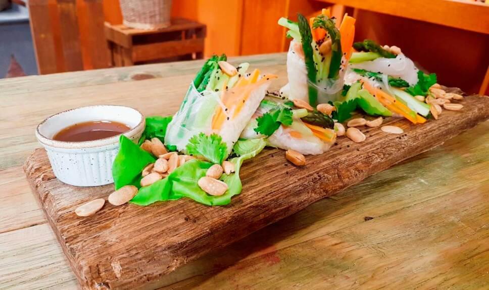 Receta Cono de papel de arroz estilo vietnamita