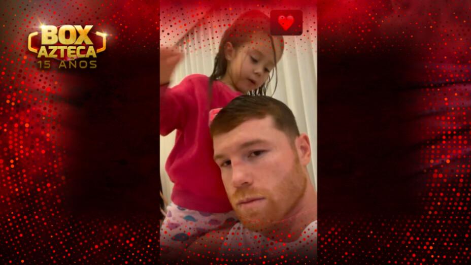 Saúl Canelo Álvarez con su hija