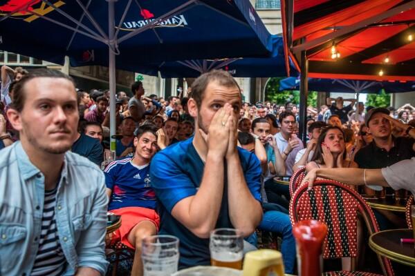 Aficionados de Francia reaccionan a la Eurocopa