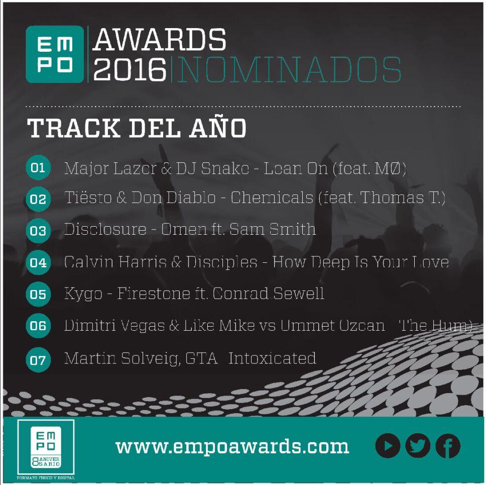 Track del año Empo Awards 2016
