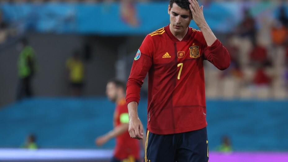 Álvaro Morata, con la Selección de España