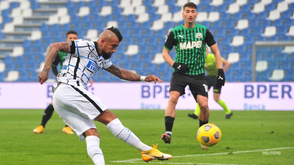 Arturo Vidal dispara ante Sassuolo