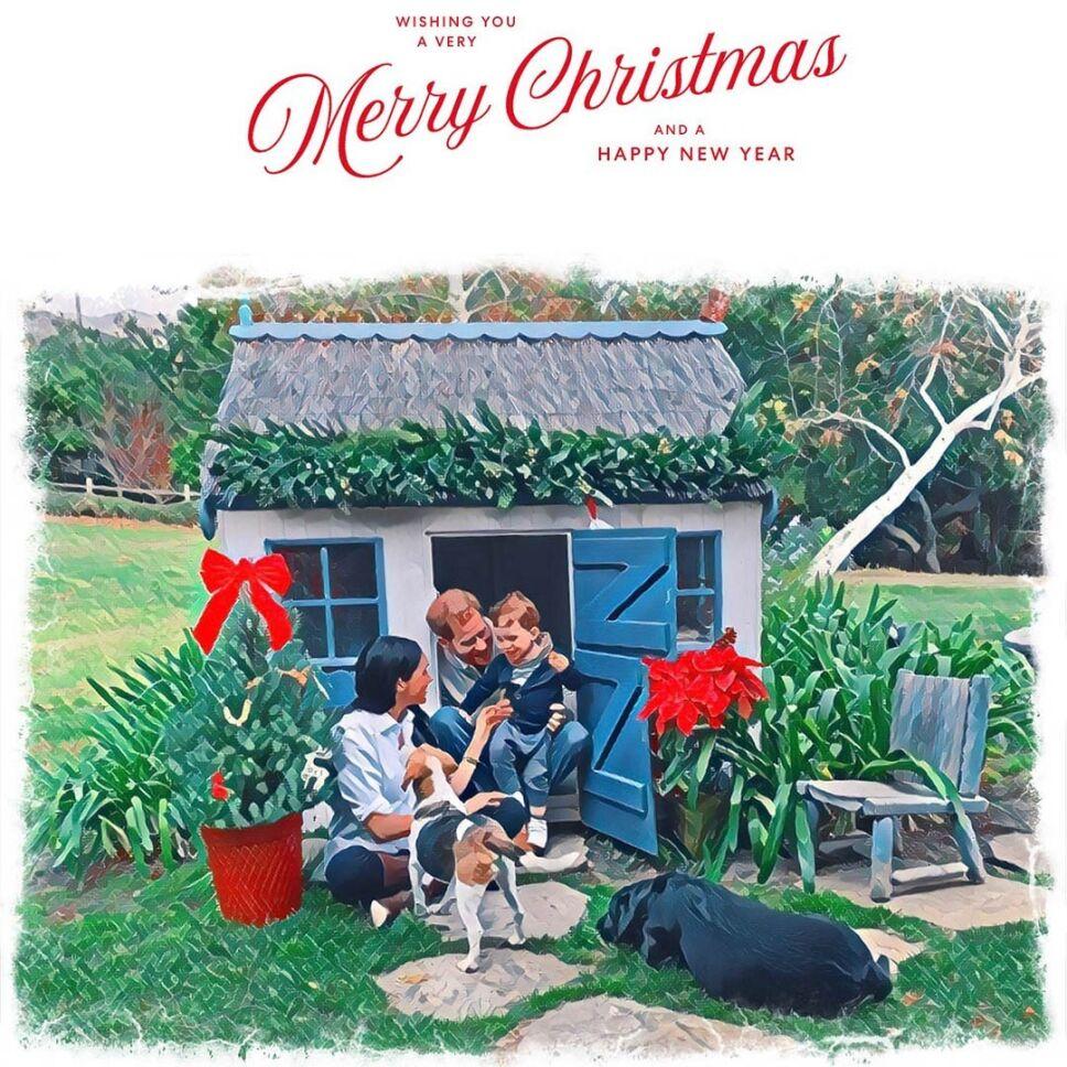 Meghan Markle y el príncipe Harry comparten su primera postal navideña desde Estados Unidos.jpg