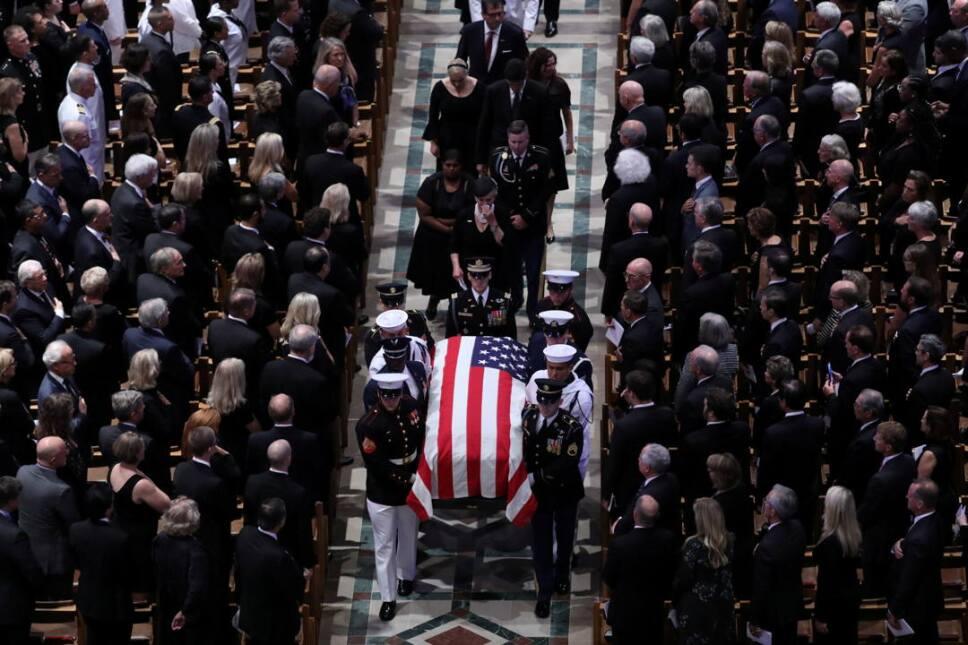 john mccain funeral2