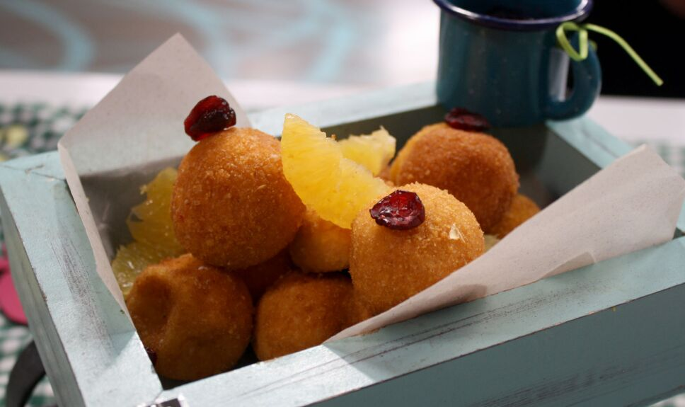 Esferas dulces de ate y queso