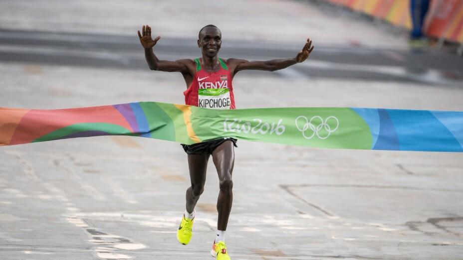 Eliud Kipchoge, el los Juegos Olímpicos de Río 2016