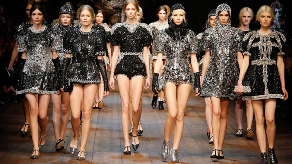Colección de Dolce & Gabbana presentada en el Milan Fashion Week /Foto: Especial