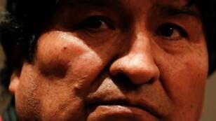 Foto de archivo. El expresidente boliviano, Evo Morales, durante una conferencia de prensa en Ciudad de México.