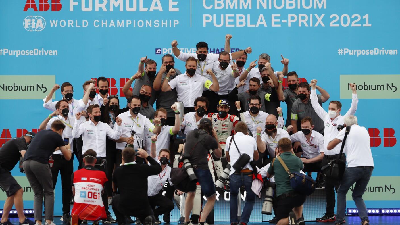 La foto de Audi Sport ABT Schaeffler, la escudería ganadora en Puebla.