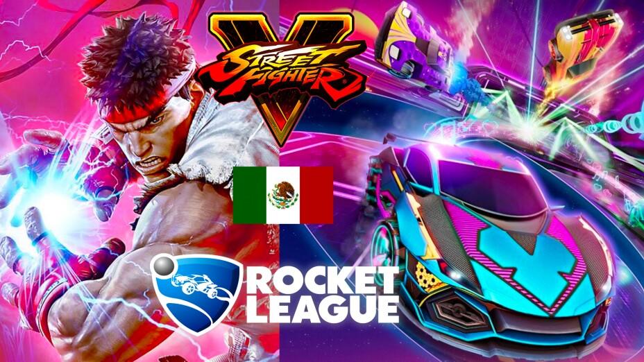 Street Fighter V y Rocket League