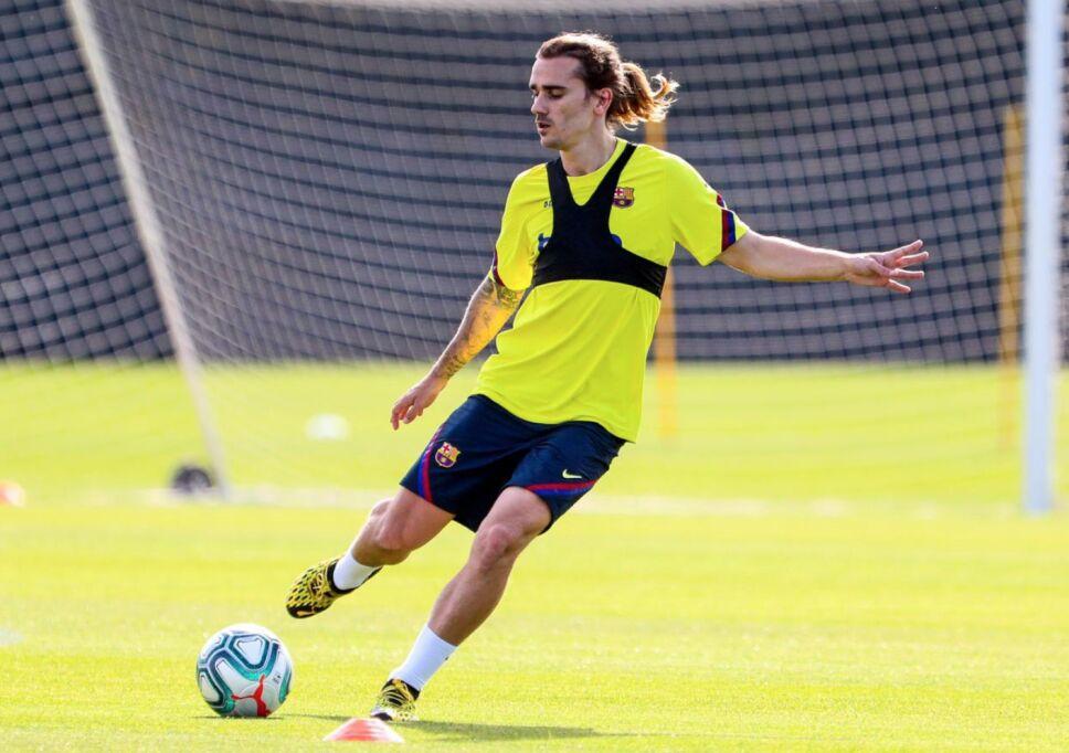 Griezmann volvió a los entrenamientos con el Barcelona