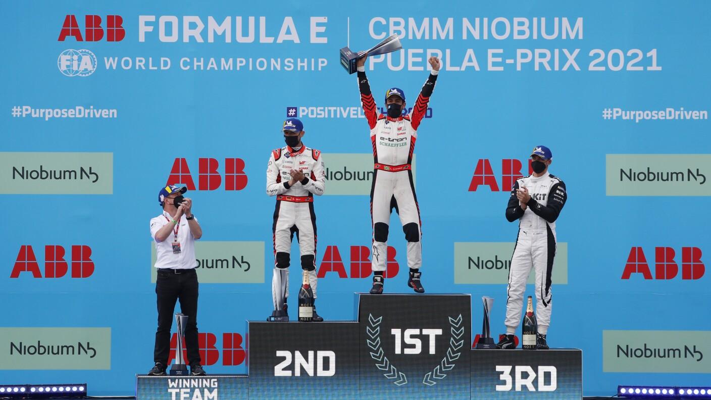 Lucas Di Grassi se llevó el triunfo en la Fórmula E de Puebla.