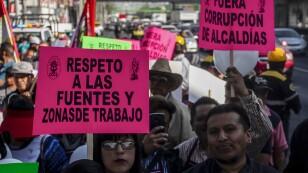 Manifestación en Tlalpan