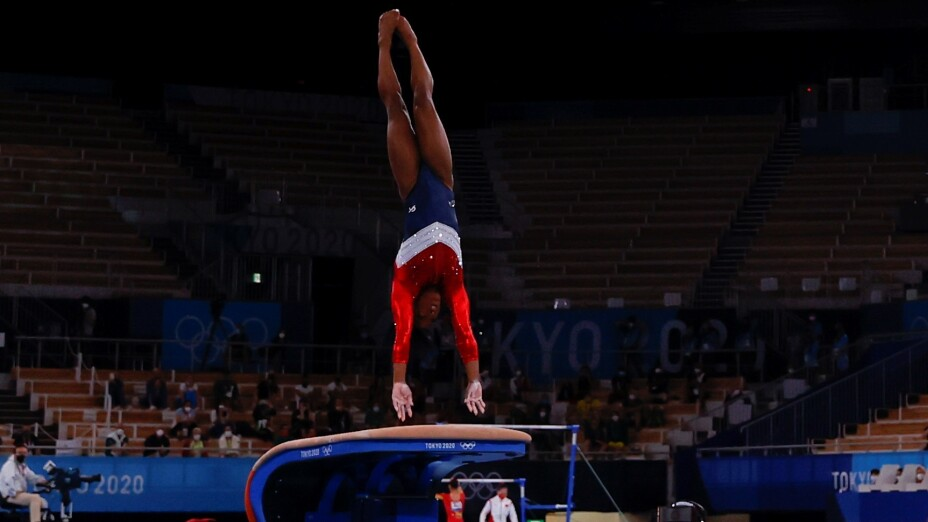 Simone Biles se retiró de las pruebas de all-around