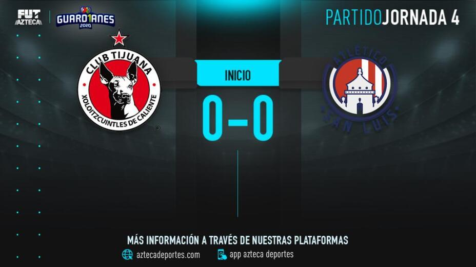 Cobertura EN VIVO   Xolos vs Atlético San Luis en Guardianes 2020 de la Liga MX