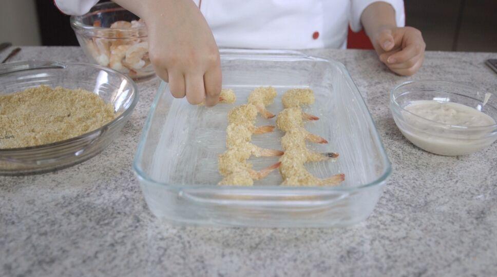 Camarones empanizados