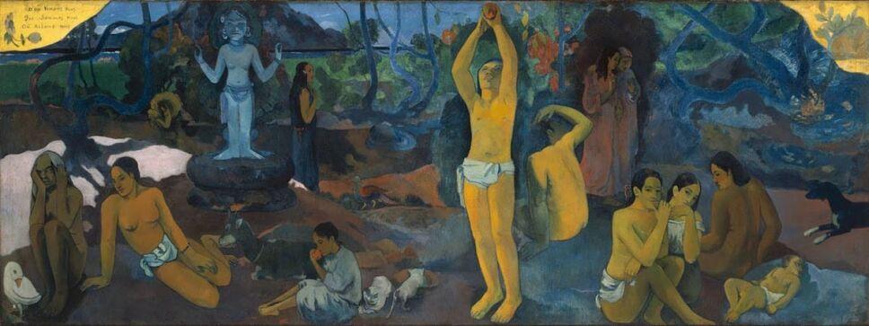 obras de paul gauguin de donde venidmos quienes somos a donde vamos