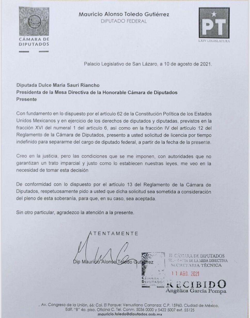 Licencia Mauricio Toledo