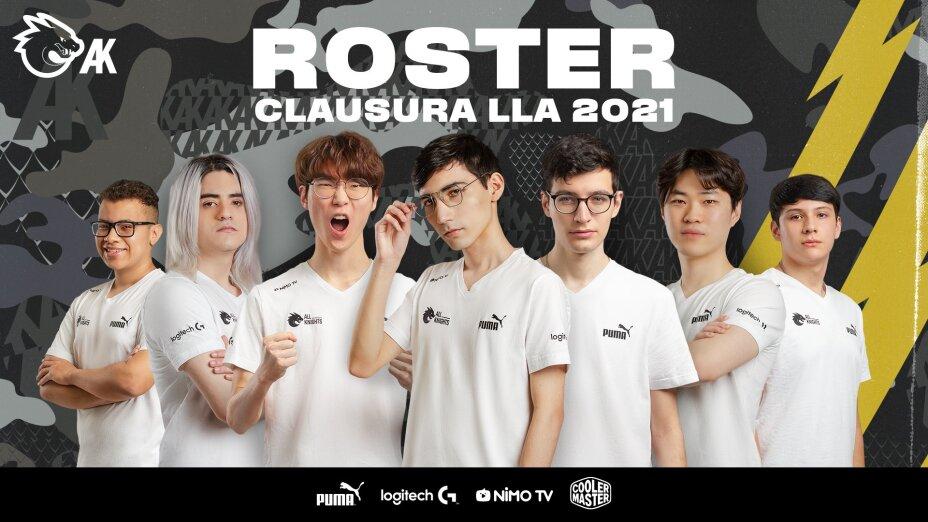 Roster All Knights para la LLA 2021