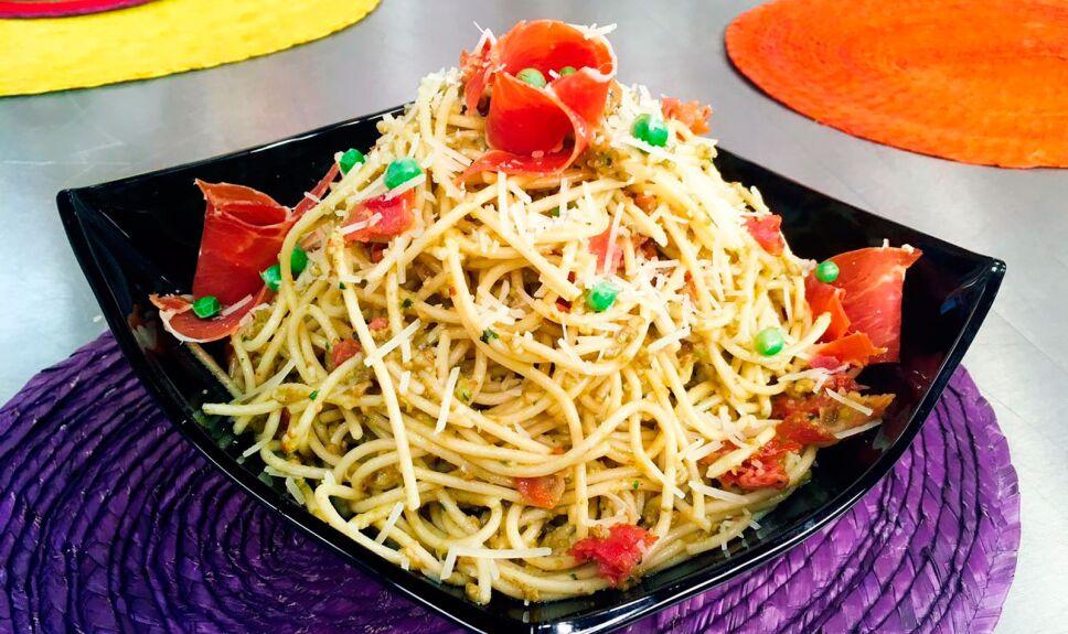 receta pasta con chicharo