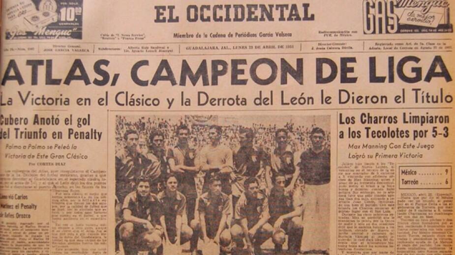 Atlas campeón 1951 Liga MX