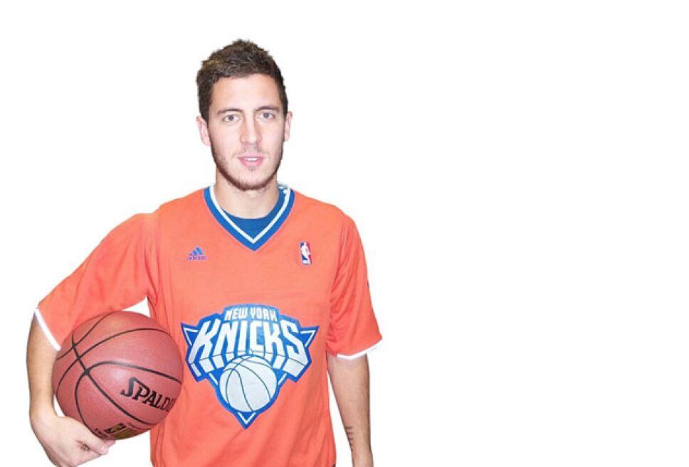 Hazard es hincha de los Knicks