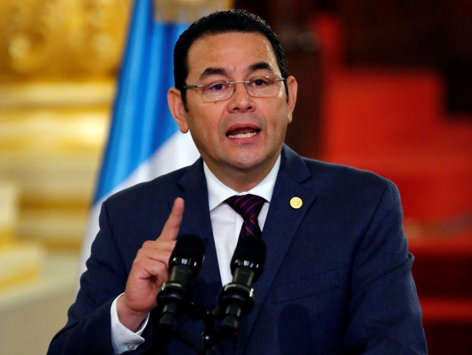 Guatemaltecos protestan contra Jimmy Morales