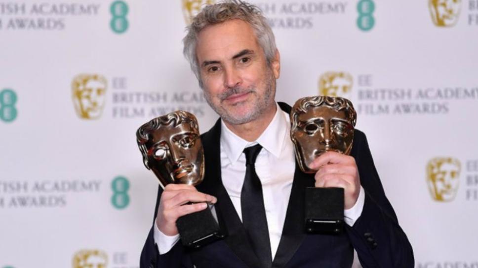 Alfonso Cuarón en premios Bafta/ Foto: Especial