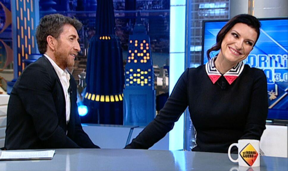 Laura Pausini charla con Pablo Motos