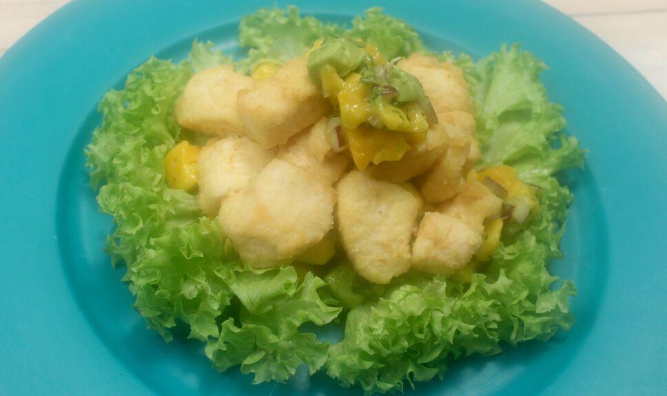 pollo en salsa de mango y guacate, que hay de comer