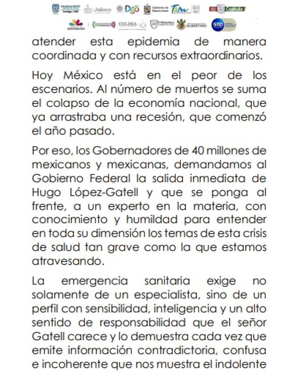 Exigen gobernadores renuncia inmediata de López-Gatell (4)