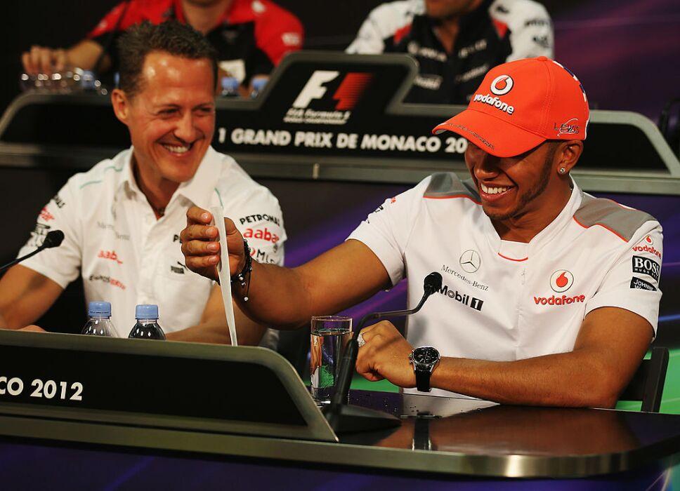 Schumacher y Hamilton