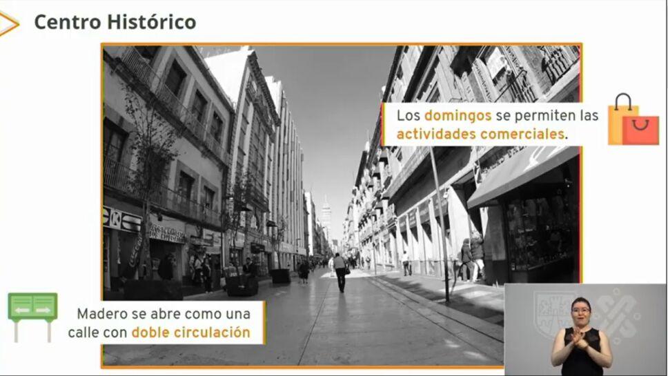 Los comercios en calle Madero reabrirán los domingos a partir del 18 de octubre