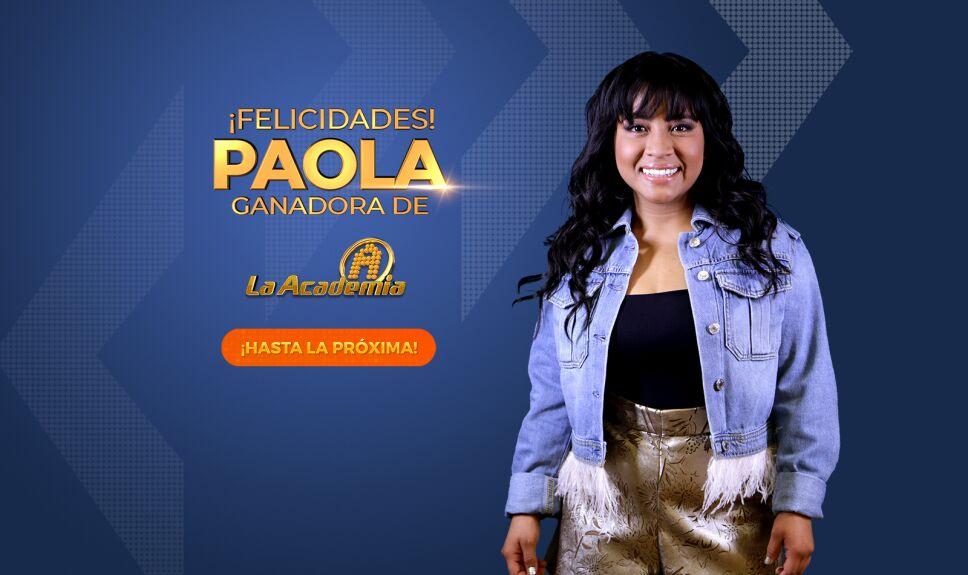 La Academia Home Ganador Paola