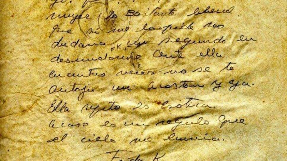 Carta de Frida Kahlo a Carlos Pellicer