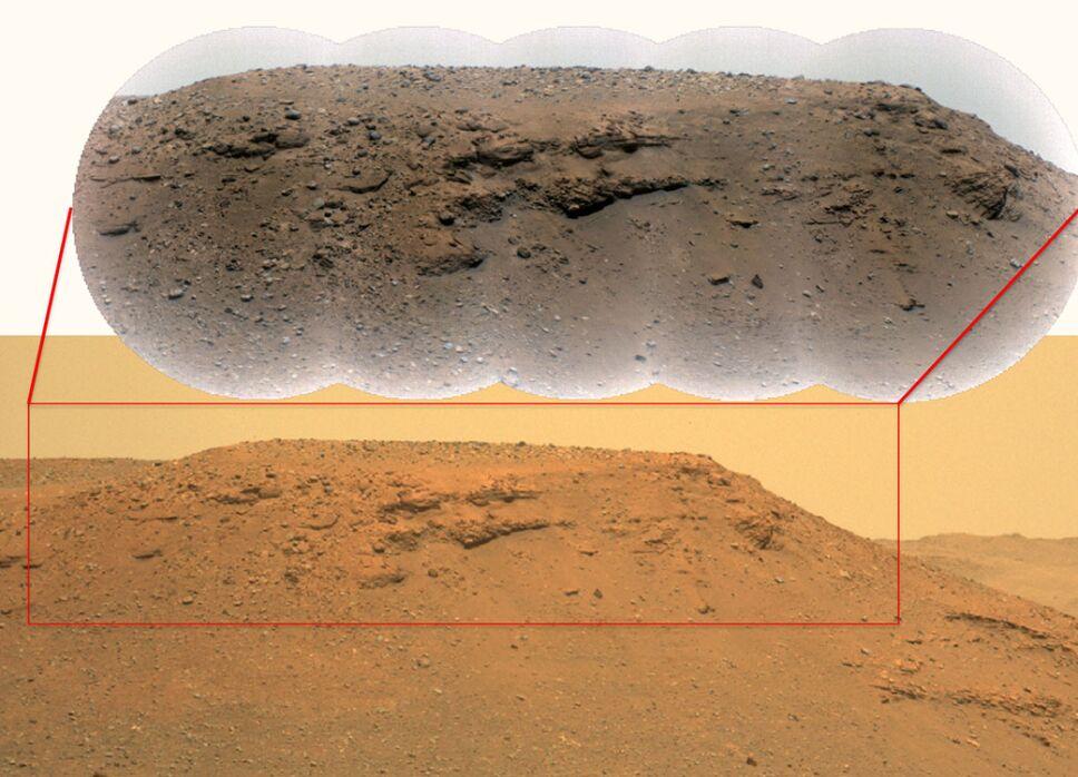 Pasado acuático en cráter de Marte