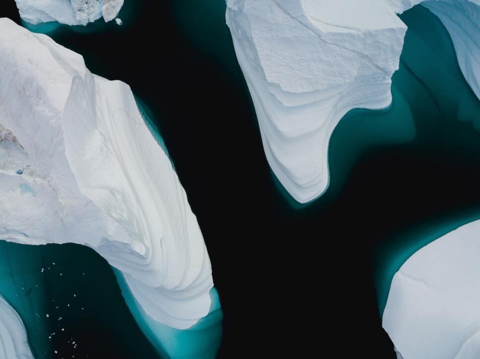glaciares derritiendose en el oceano