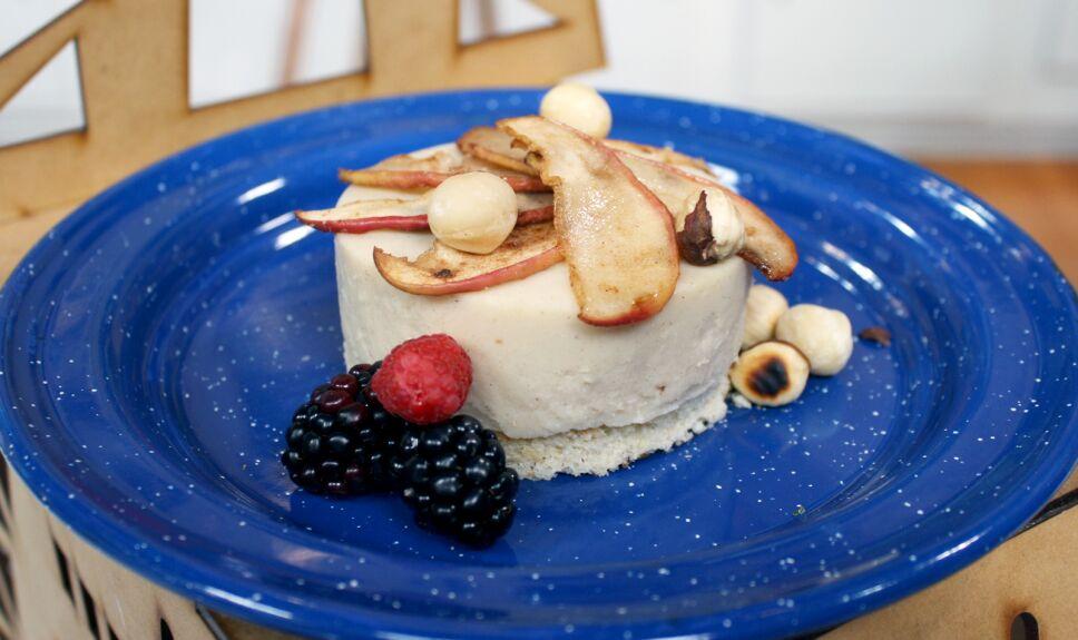 Postre de manzana con leche condensada