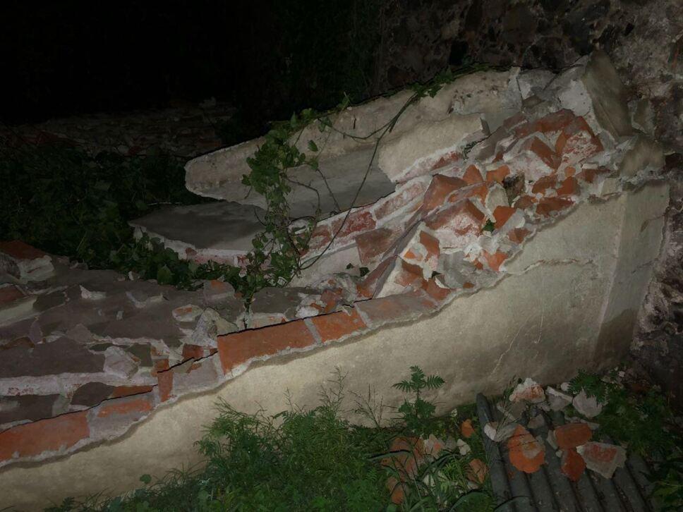 Cola de agua provoca caída de árboles en Pirámides Edomex