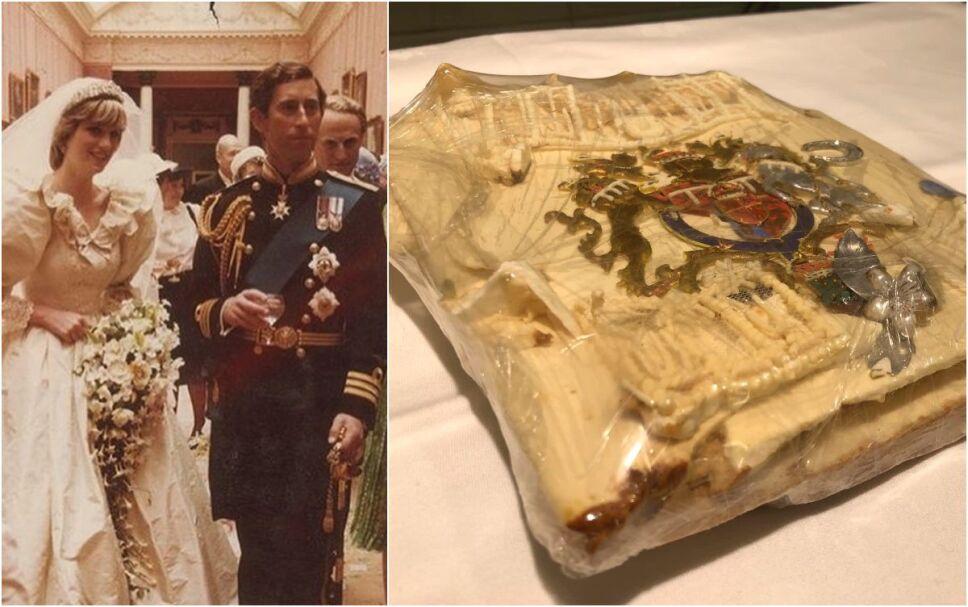 Rebanada de pastel de la boda de Carlos y Lady Di fue subastada en miles de pesos