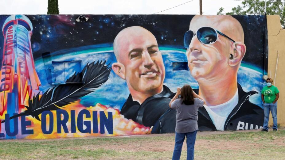 Mural de Jeff Bezos