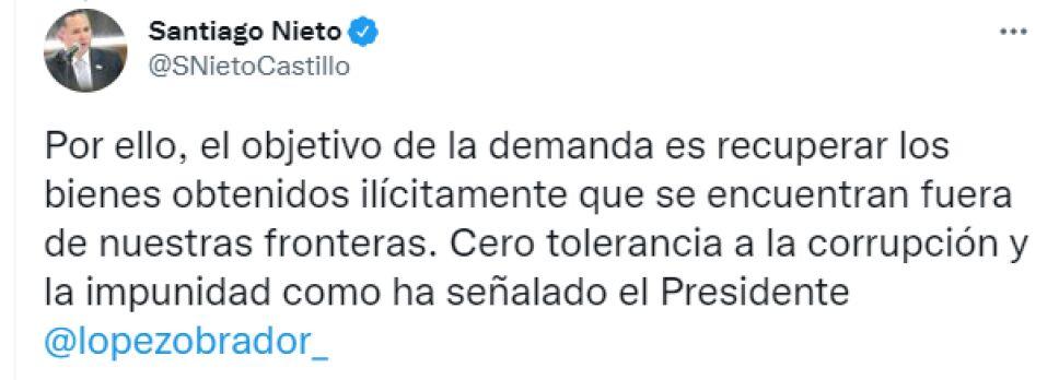 UIF presenta demanda en EUA para recuperar activos de García Luna