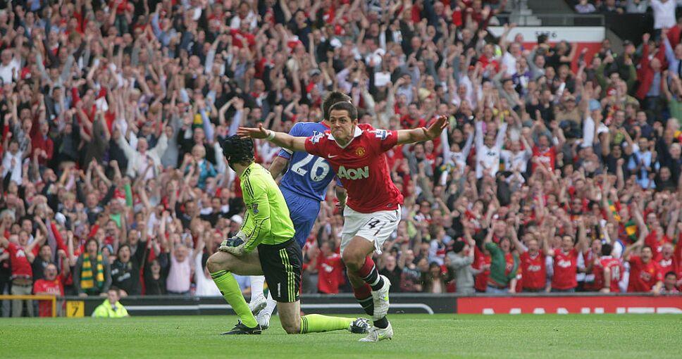 Javier Hernández triunfó en el Manchester United