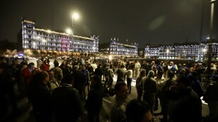 Manifestaciones frente a Palacio Nacional