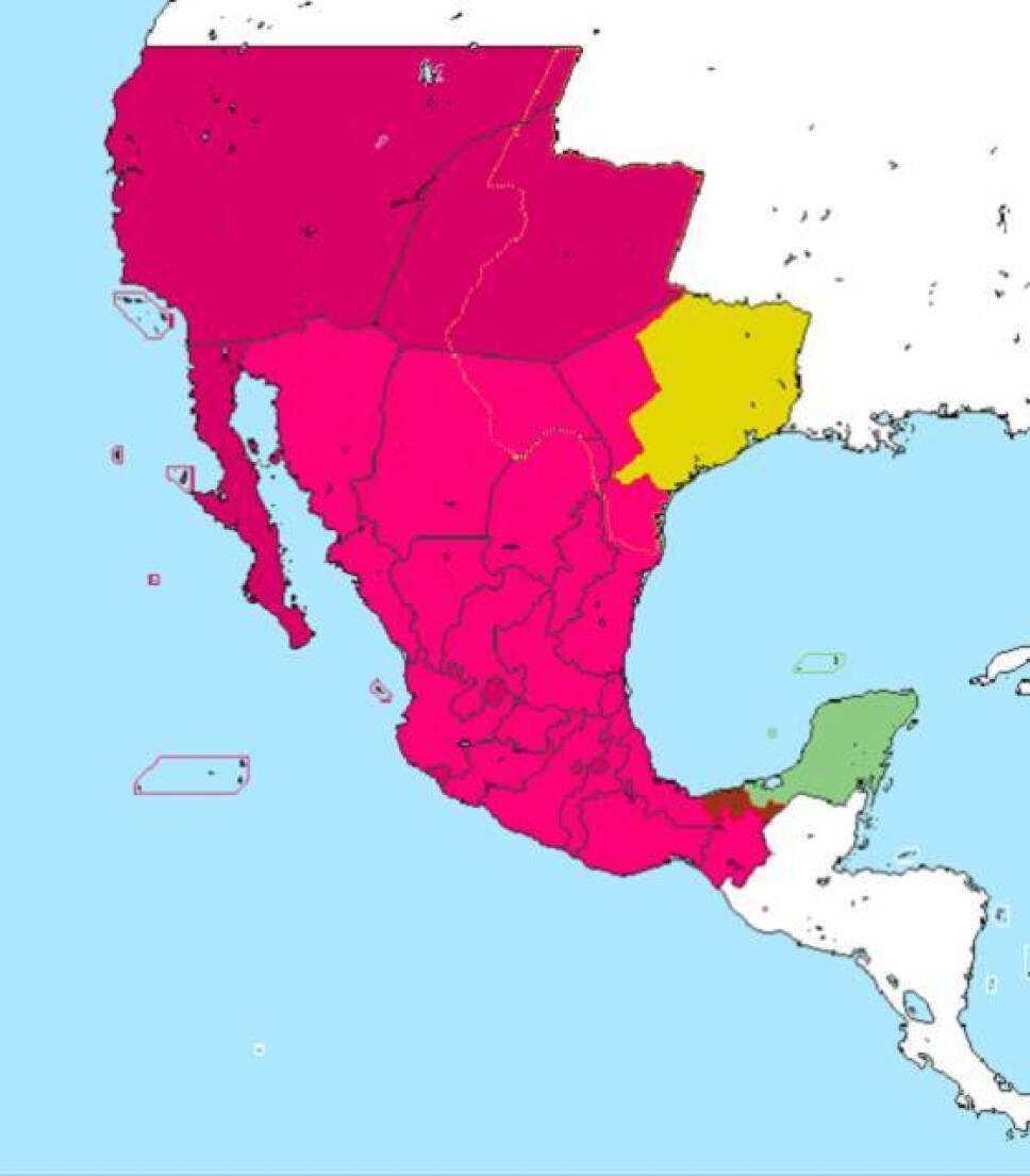 mapa mexico Yucatan indepen