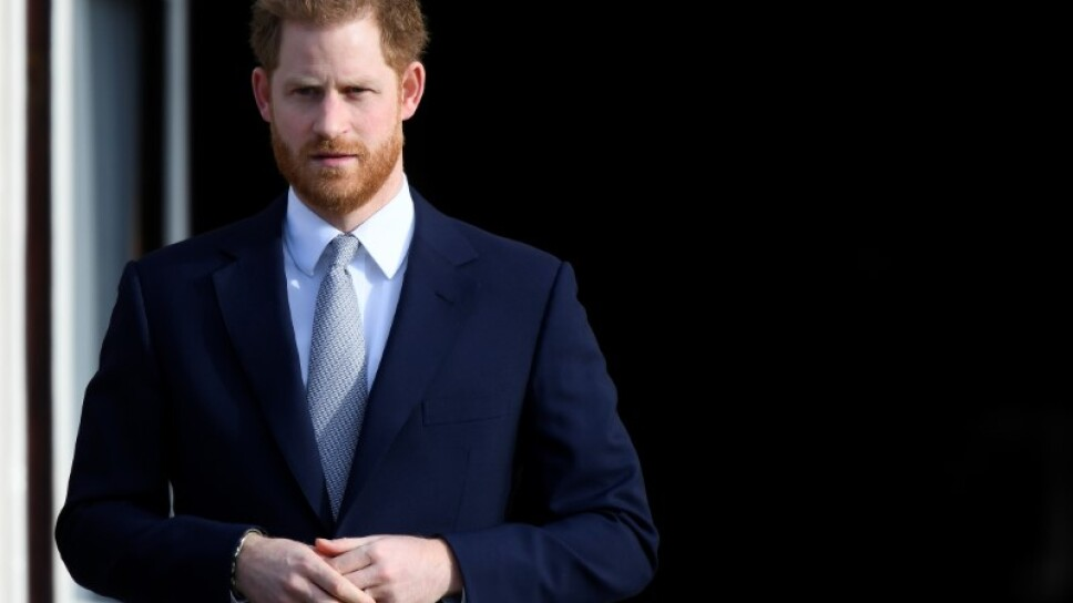 El príncipe Enrique de Gran Bretaña asiste a un evento de rugby en los jardines del Palacio de Buckingham en Londres