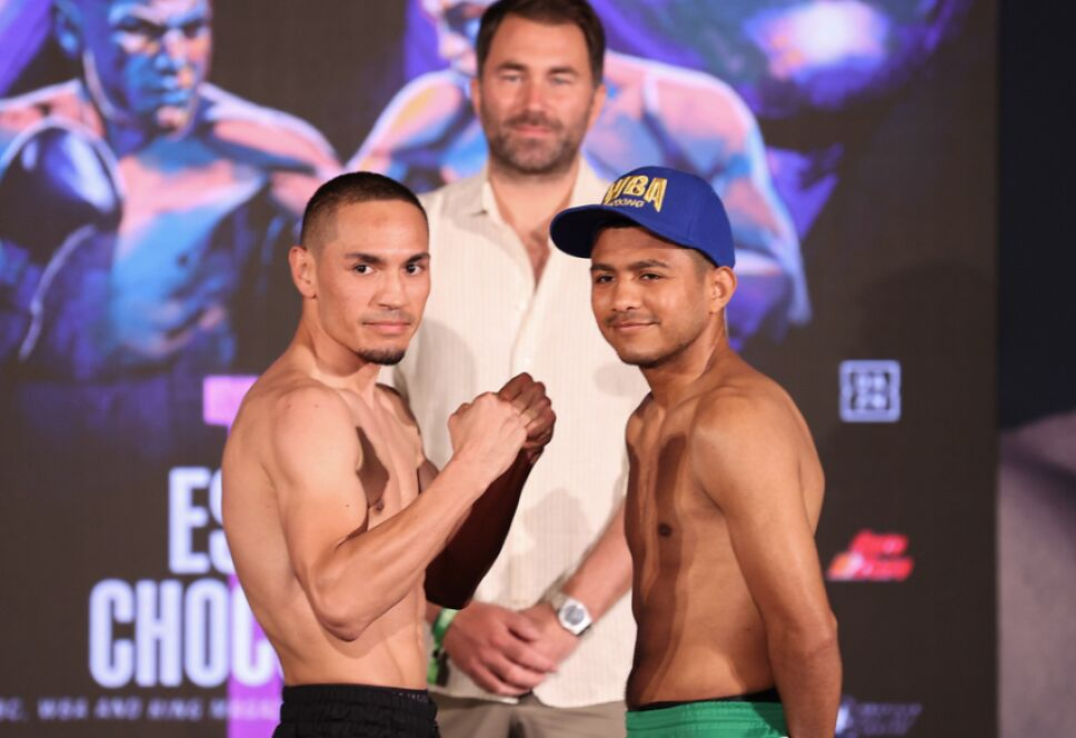 Gallo Estrada vs Chocolatito González pesaje pelea 13 de marzo