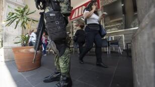 La guardia Nacional Patrulla en Veracruz
