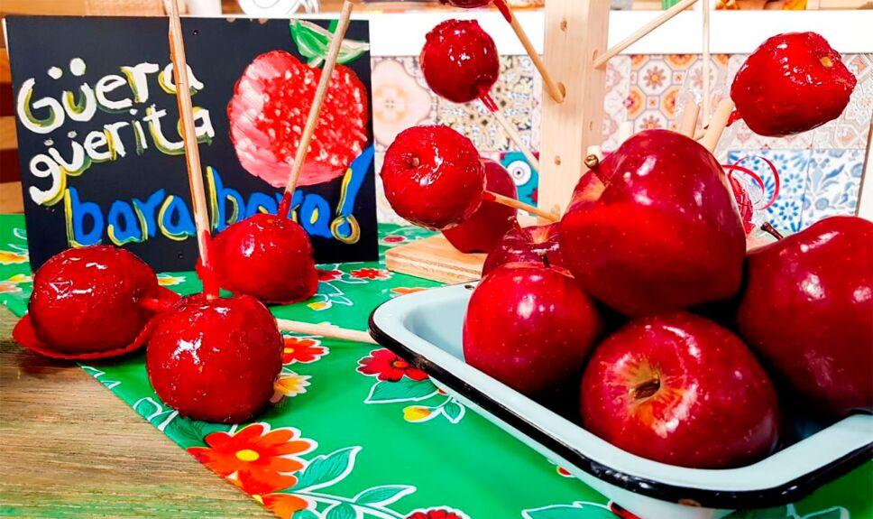 Manzanas carameladas