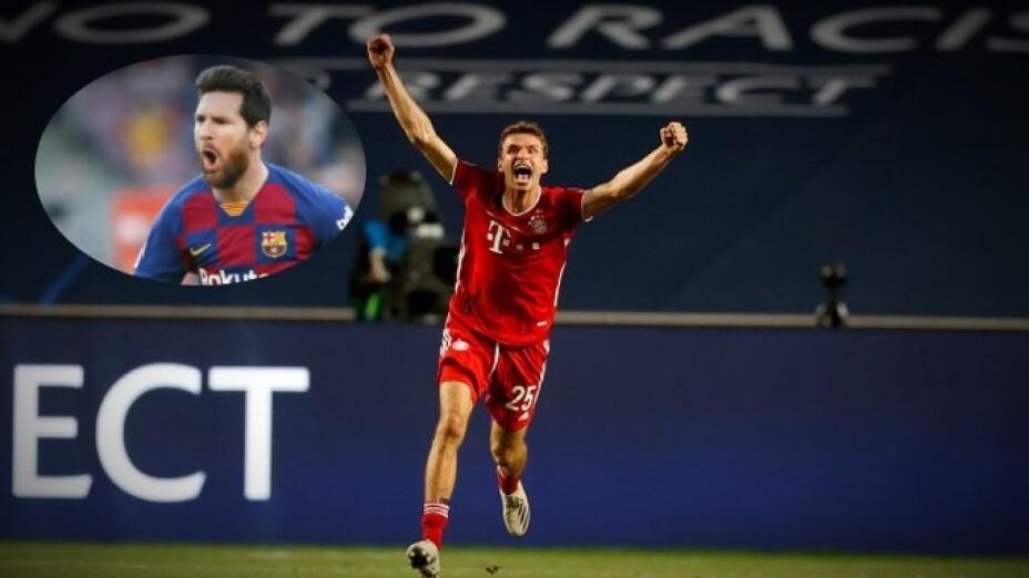 Thomas Muller Lionel Messi